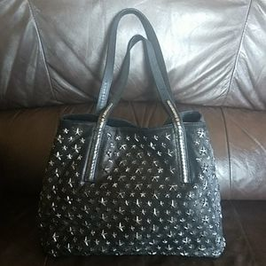 Jimmy Choo Metallic Star Studded Tote Bag